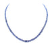 IOLITE BEADS Faceted Graduated Buttons 3-6mm Water Sapphire Necklace 18""