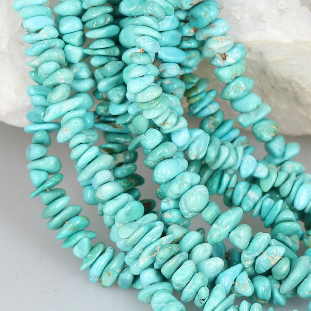 CARICO LAKE Turquoise Beads Sky Blue 18""