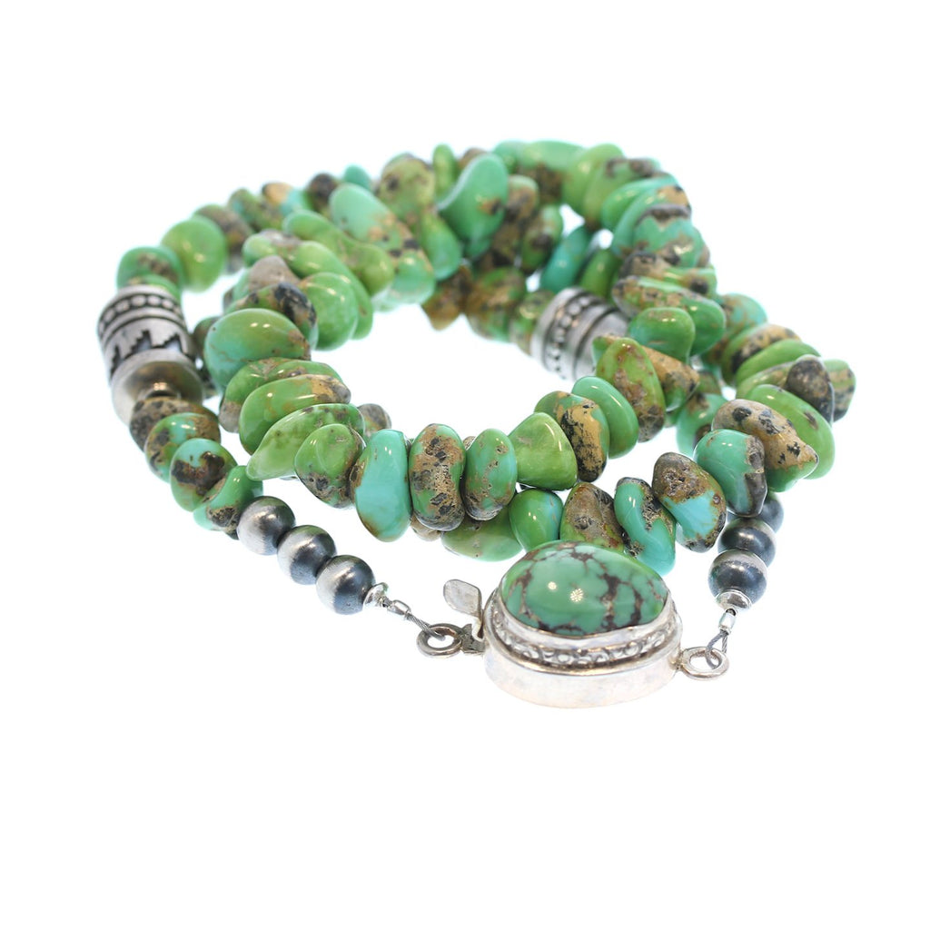 Verde Valley Mexican Turquoise Beads Necklace Sterling