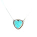 CONCHO PENDANT HEART Turquoise Southwest Style Necklace Medium