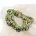 McGINNIS TURQUOISE BEADS OLIVE GREEN 8-16mm RONDELLE BARREL NEVADA
