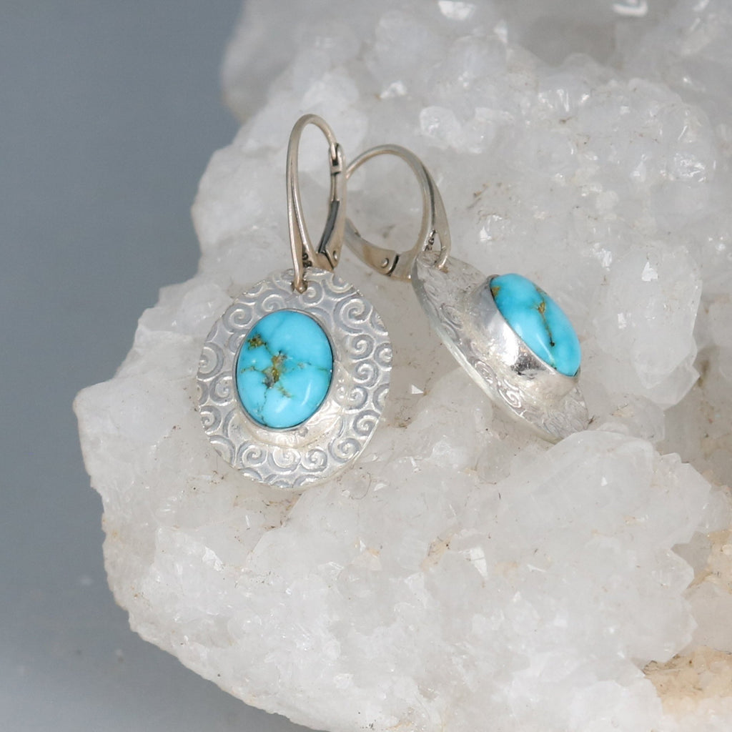 Bright Blue South Hill Turquoise Pendant Sterling Silver