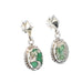 Marbled VARISCITE Earrings Sterling Dramatic Ovals
