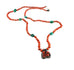 Antique TIBETAN CORAL and TURQUOISE Necklace Knotted 24""