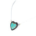 HEART PENDANT Kingman Turquoise Sterling Southwest Necklace