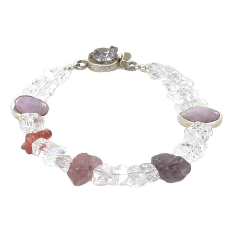 HERKIMER and SPINEL BEADS BRACELET - New World Gems
