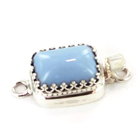 Owyhee American Blue Opal Sterling Clasp - New World Gems