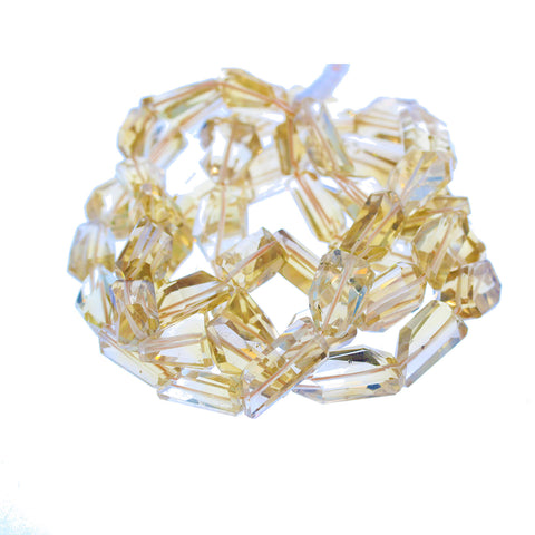 WHISKY QUARTZ BEADS Faceted Free Form 12-20mm