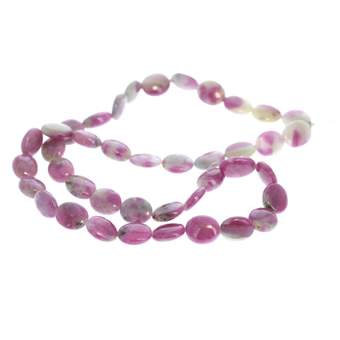 RUBY BEADS Large Oval Beads 10x13.5mm 16""