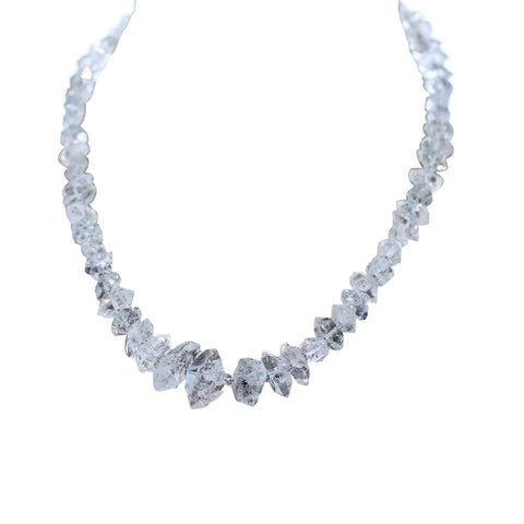 "HERKIMER DIAMOND BEADS Necklace 17.5"" Large"