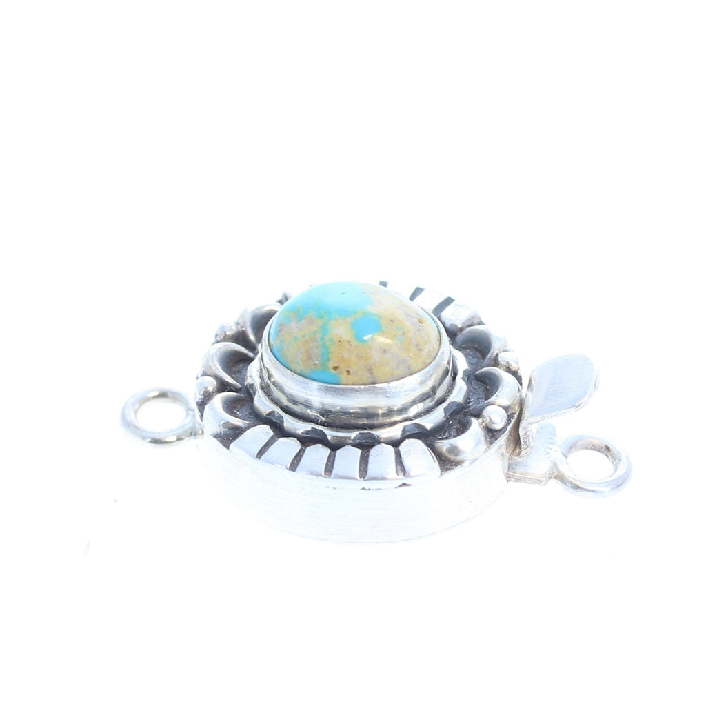 CARICO LAKE TURQUOISE Clasp Matrix Moon Design