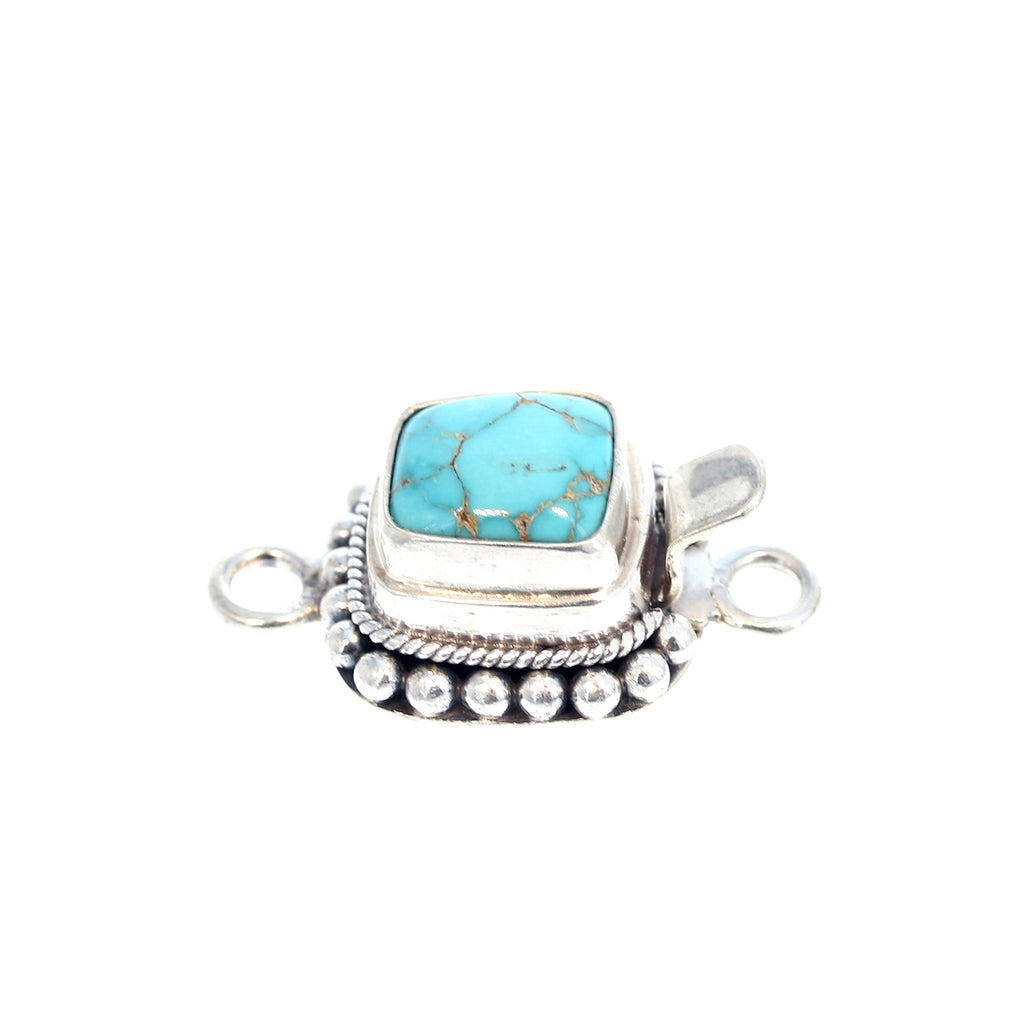TURQUOISE CLASP #8 Mine Sterling Silver Choose Stone