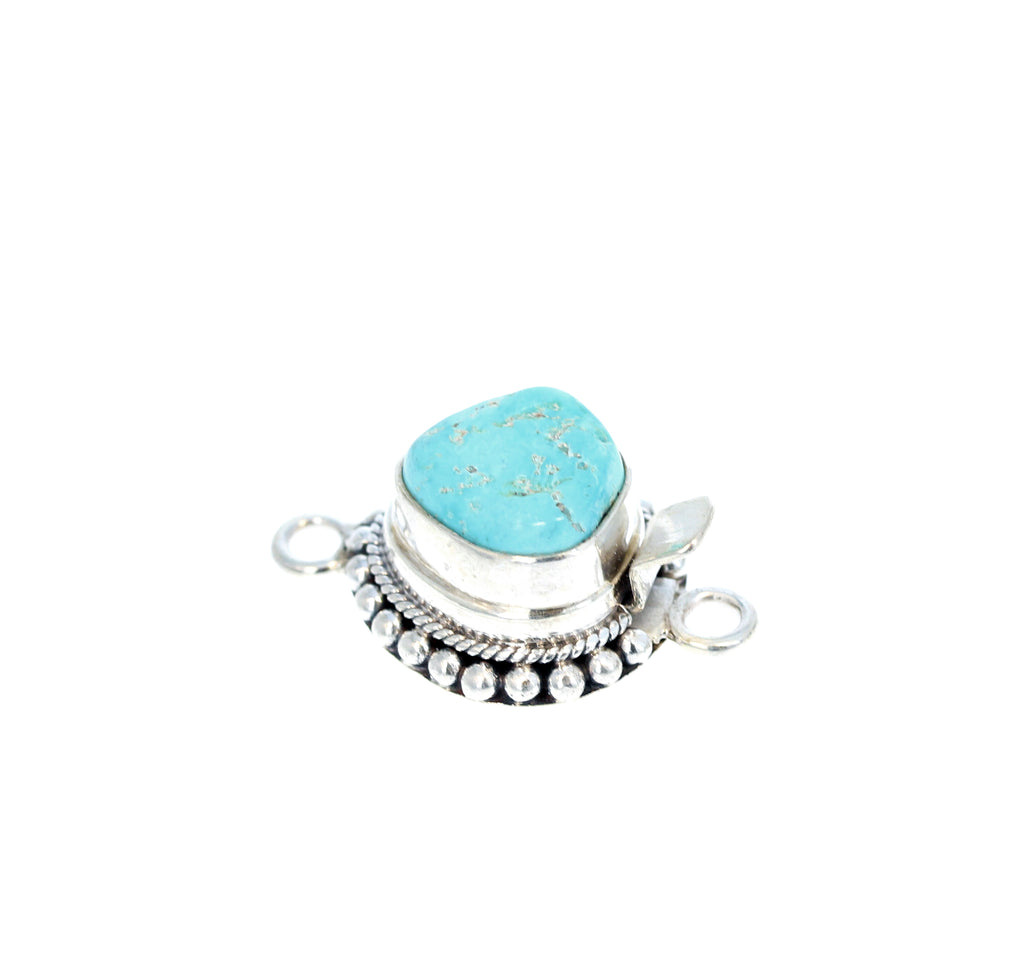 DRY CREEK TURQUOISE Clasp Sky Blue Oval Sterling Choose Stone