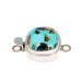 CARICO LAKE TURQUOISE CLASP CUSHION SHAPE BLUE 13.8mm