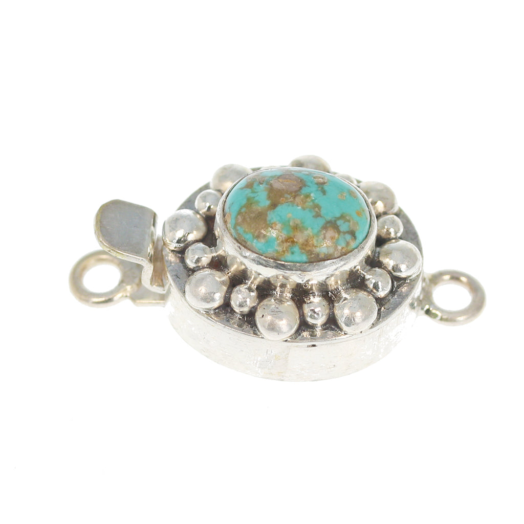 CARICO LAKE TURQUOISE Clasp Light Blue Matrix