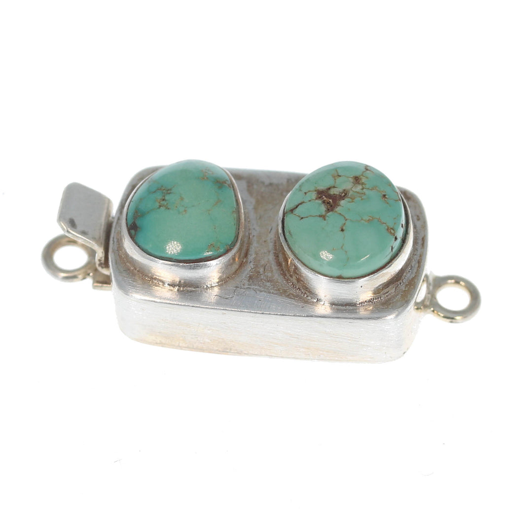 Carcio Lake Turquoise Clasp 2 Stone Free Form Choose Color