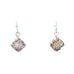 DRUSY CRYSTAL EARRINGS Sterling Silver and Pink
