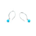 Sleeping Beauty Turquoise Earrings Sterling 6mm Long Hoop - New World Gems - 2