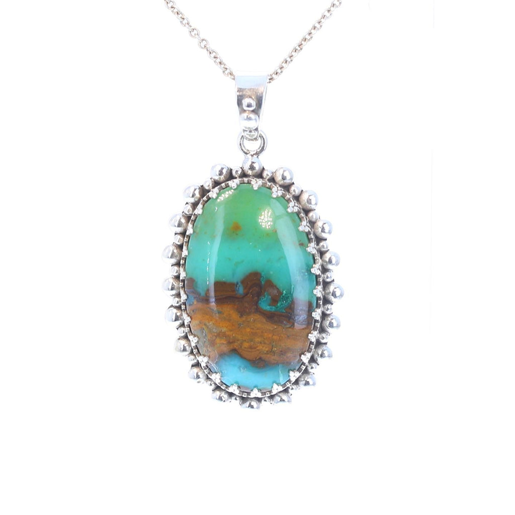 AAA Regal PERUVIAN OPAL Pendant Sterling Oval