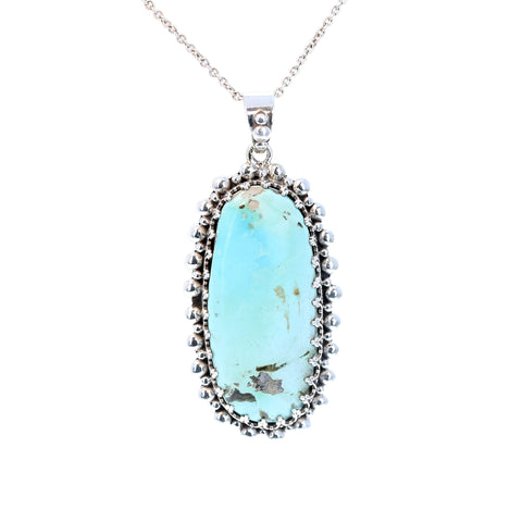 ROYSTON TURQUOISE PENDANT Oval Decorative Sterling