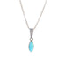 Gemstone Pendant Charm Necklace Faceted 16""