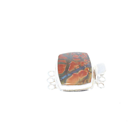 Red Creek Jasper Clasp 3 Strand Reds/Olives