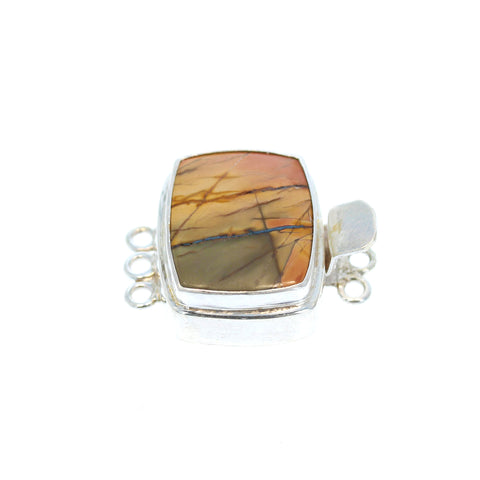 Red Creek Jasper Clasp 3 Strand Peach/Apricot/Olive