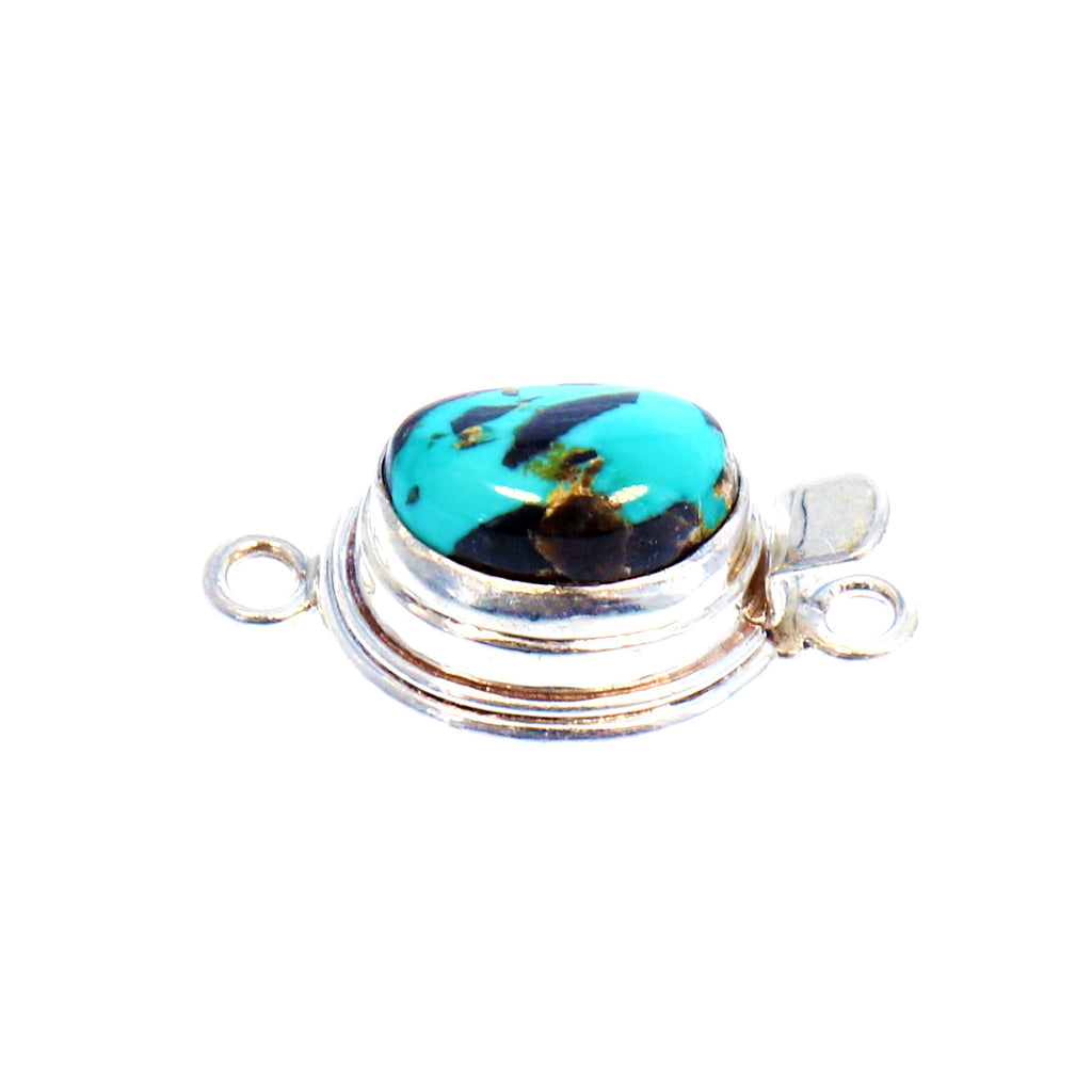 CARICO LAKE TURQUOISE Clasp Vivid Blue 13x9.5mm