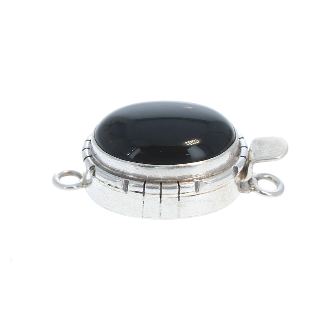 BLACK AGATE CLASP Southwest 14x18mm