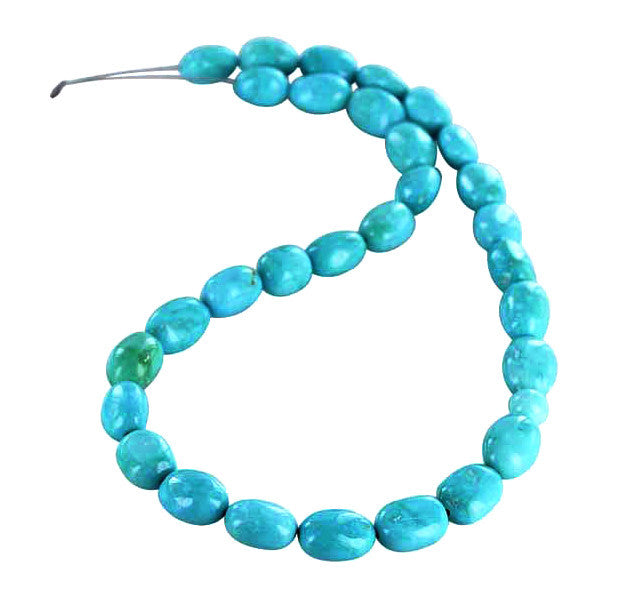 SLEEPING BEAUTY TURQUOSE Potato Beads 13-14x10mm - New World Gems - 1