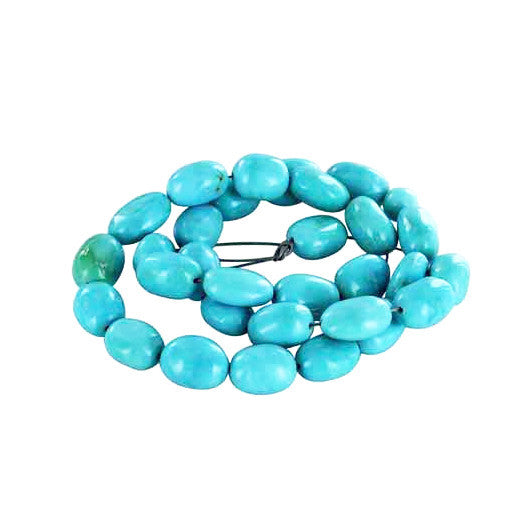 SLEEPING BEAUTY TURQUOSE Potato Beads 13-14x10mm - New World Gems - 2