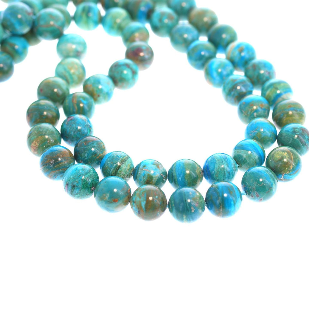 PERUVIAN OPAL BEADS Ocean Blue 12mm Round