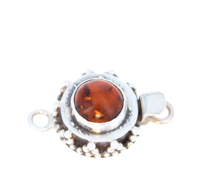 Baltic Amber Clasp 8mm Round