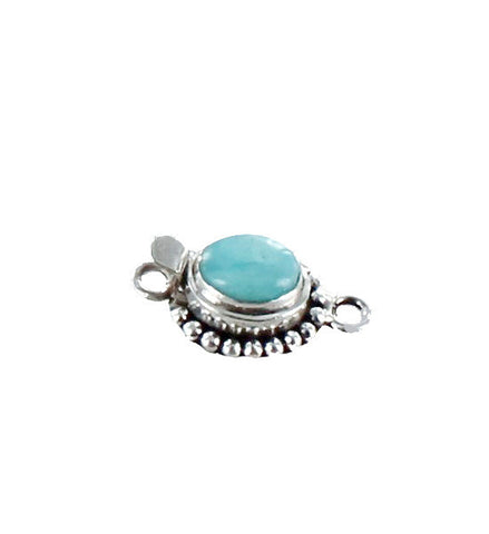 AMAZONITE CLASP Sterling 8x10mm PERUVIAN - New World Gems