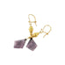18K GOLD PLUM TOURMALINE EARRINGS - New World Gems - 2