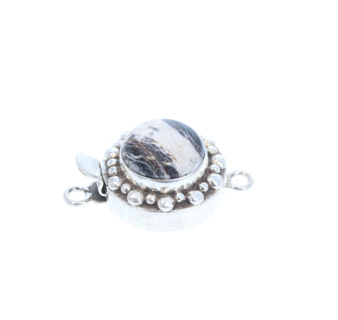 WILD HORSE Sterling Clasp Ball Design 14.5mm Round