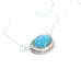 GEM PENDANT TURQUOISE FOX Mine Sterling 16""