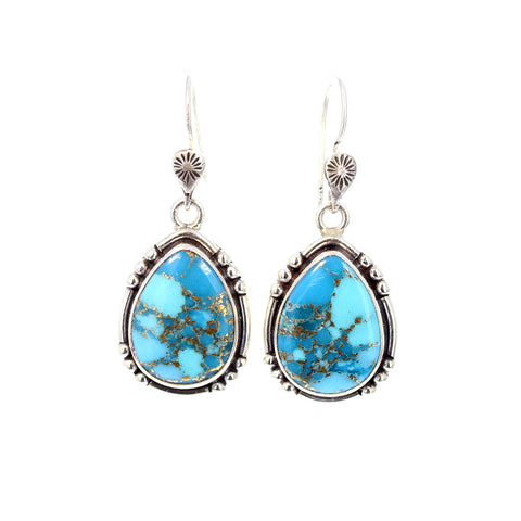 SLEEPING BEAUTY TURQUOISE and Copper Earrings Southwest