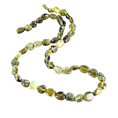 YELLOW TOURMALINE BEADS Potato Shape 6-9mm