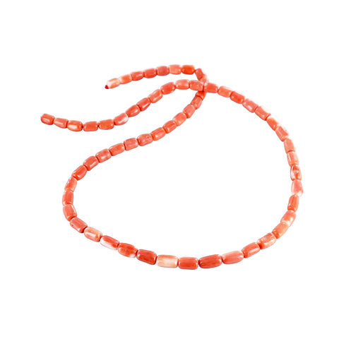 SALMON CORAL BEADS Barrel Shape 6x5 to 9mm - New World Gems - 1