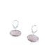 Morganite Earrings Oval Shaped Sterling Leverback - New World Gems - 2
