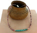 "Carico Lake Turquoise Spiny Oyster Necklace Southwest 18"" Unisex"