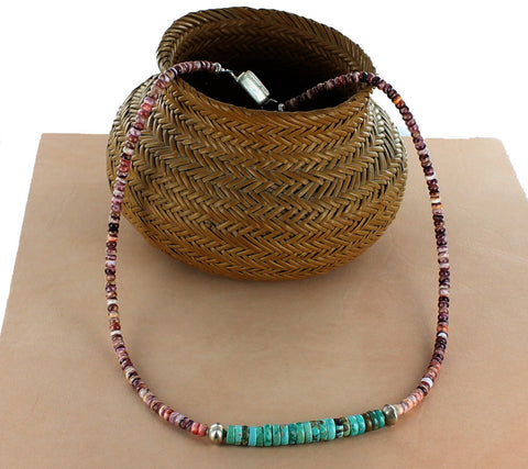 Mens Carico Lake Turquoise Spiny Oyster Necklace Southwest