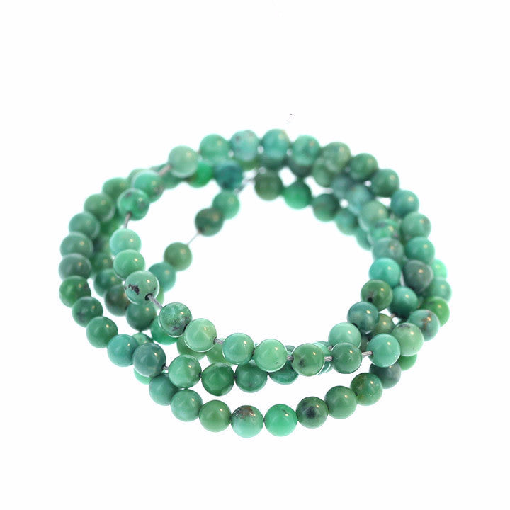 Chinese TURQUOISE BEADS Lime Green Round 3.5mm