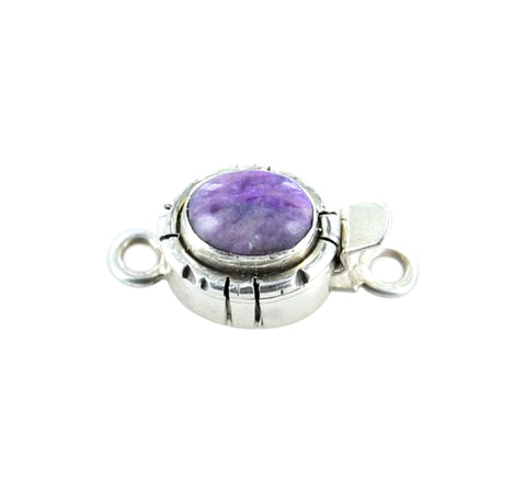 Sugilite Clasp Sterling Oval 9x7mm Southwest Style Light - New World Gems