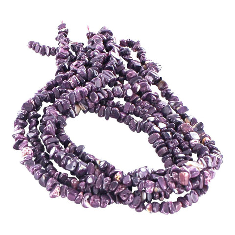"PURPLE SPINY OYSTER BEADS Nuggets 15"" - New World Gems"