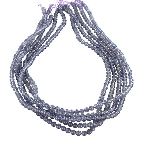 IOLITE BEADS Round 4mm - New World Gems - 1