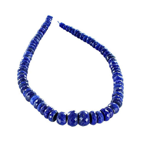 LAPIS BEADS Faceted Graduated Rondelles 6-14mm
