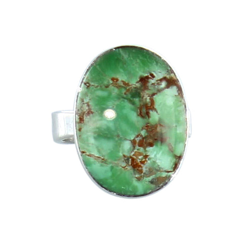 Variscite Ring Sterling Silver 21x16mm Size 6 - New World Gems - 2
