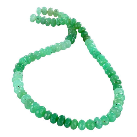 "CHRYSOPRASE BEADS FACETED 8mm Rondelle 15"" - New World Gems"